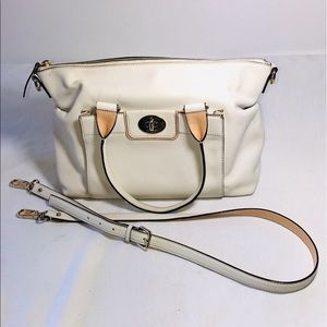 Kate Spade Satchel Purse with Beige Accents.